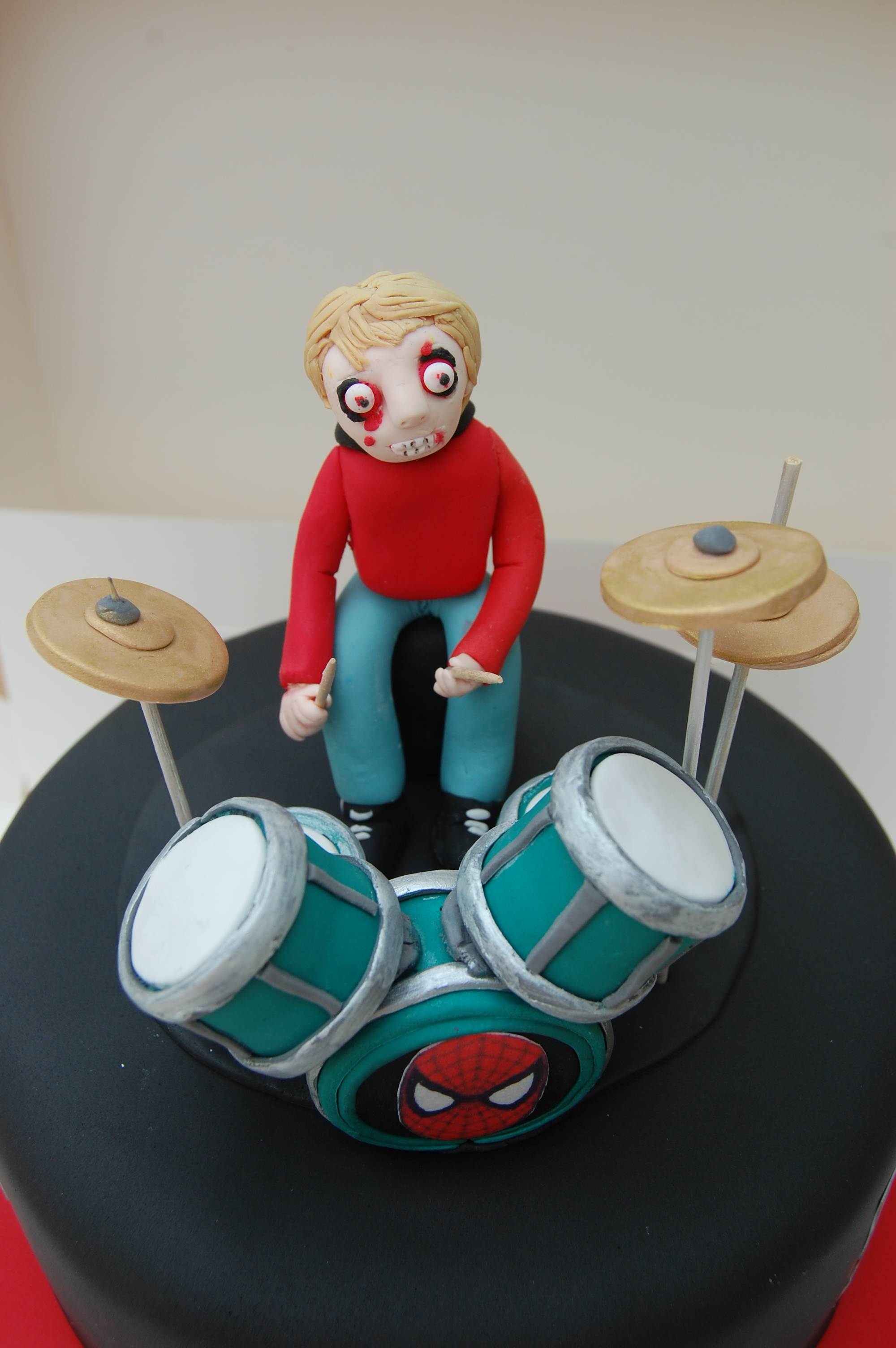 Zombie Heavy Metal Drummer Cake For 18th Birthday Party Devoted To