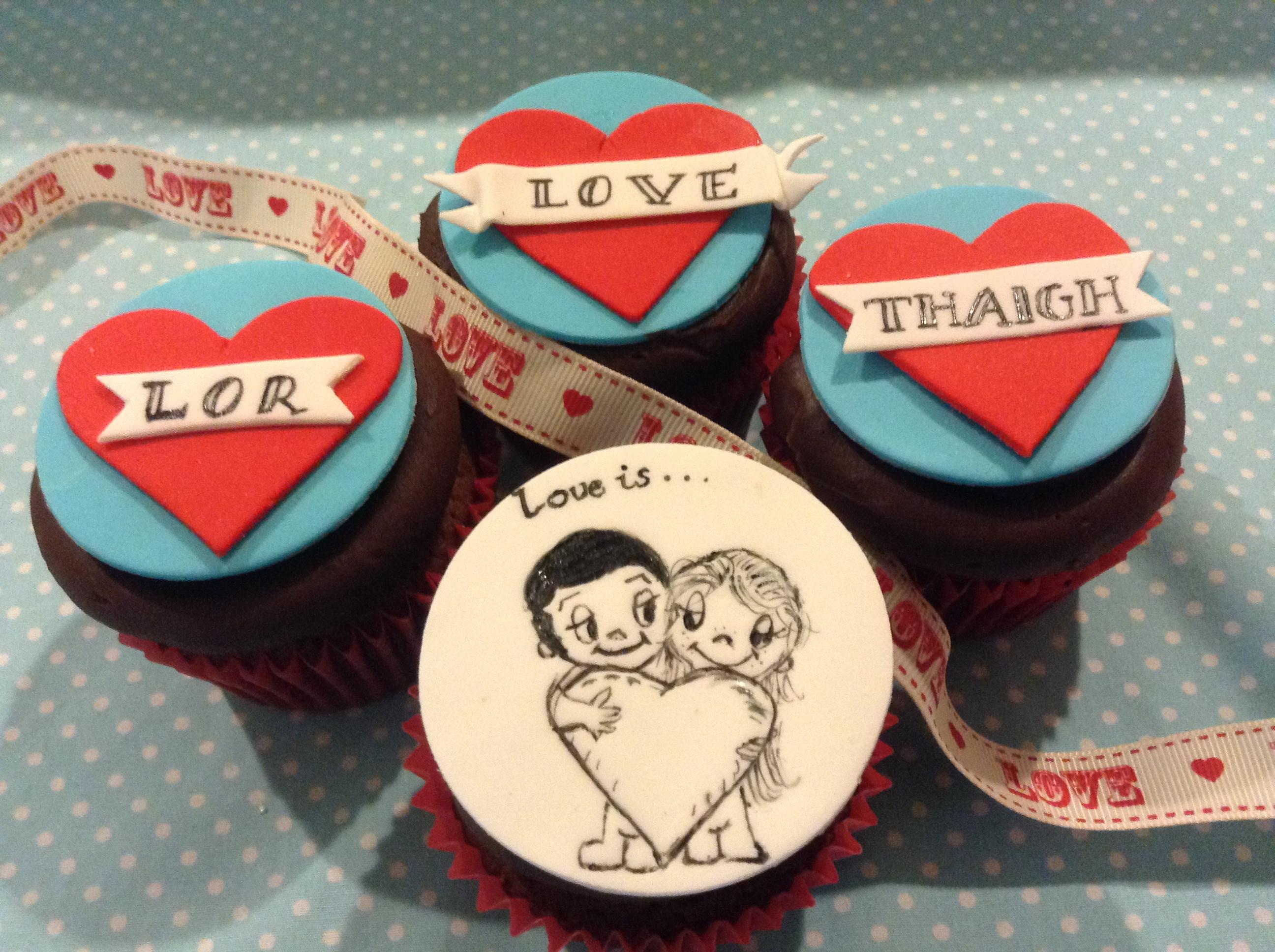 Valentine Chocolate Cupcakes