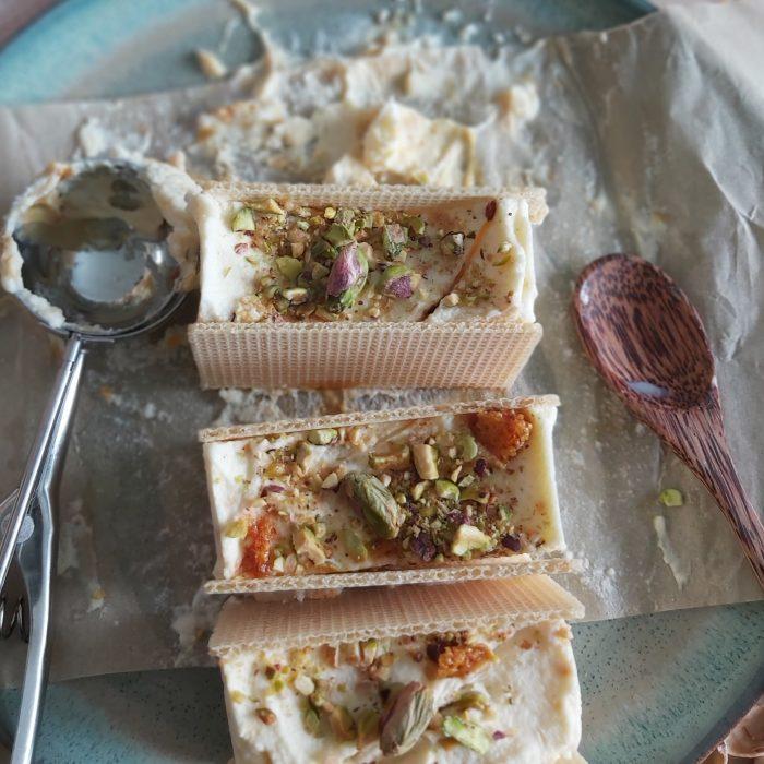 Easy Salted Honey and Pistachio Icecream