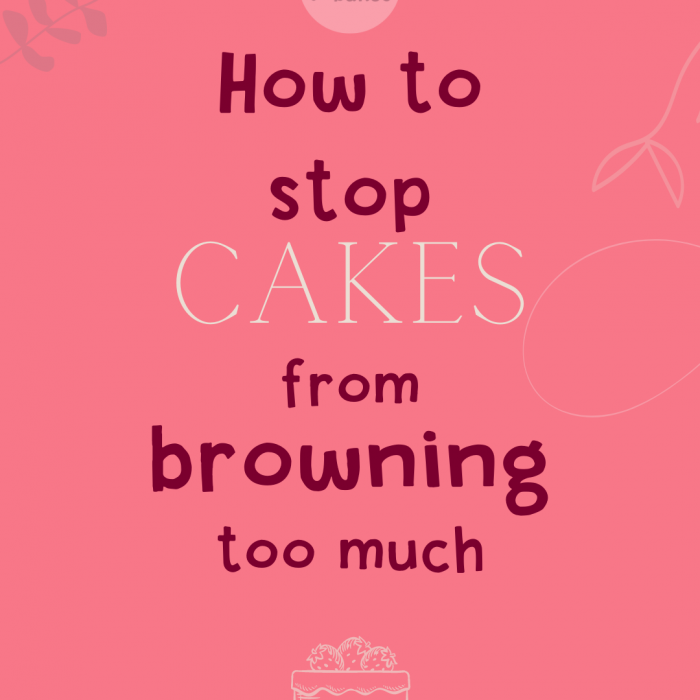Stop cake sides from browning too much!