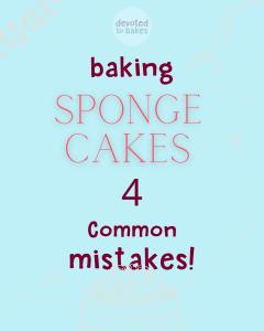 sponge cake tips