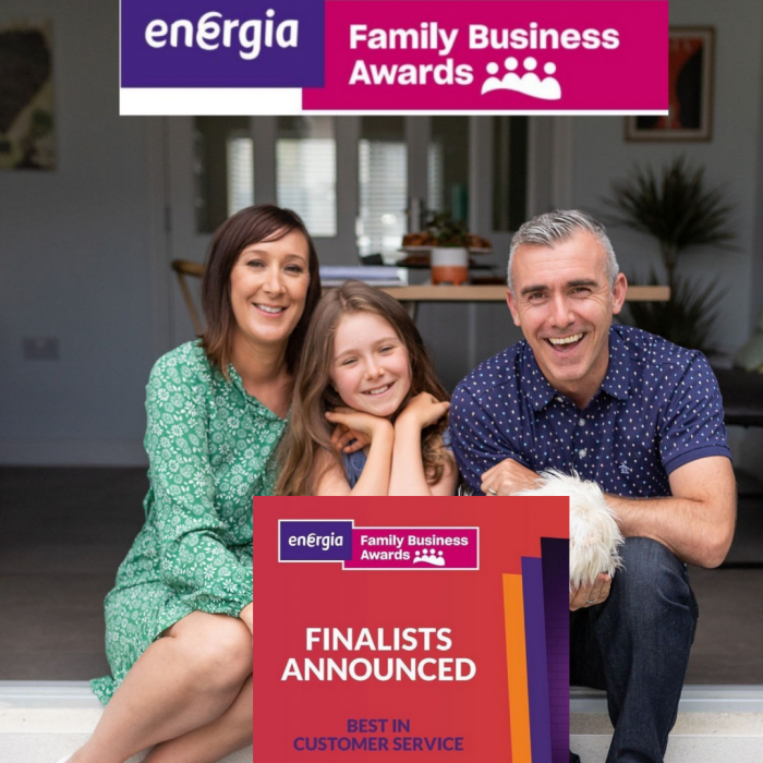 """Finalist in """"Best in Customer Service"""" Category Energia Family Business awards 2021"""