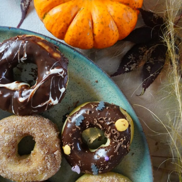 Halloween Baked Donuts